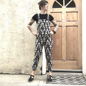 Staci Woo Guatemalan textile overalls